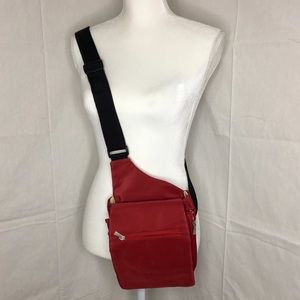Travelon, Red Fabric Crossbody One Shoulder Bag